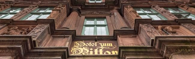 The oldest hotel Ritter in the Old Town of Heidelberg. (Photo: Diemer)