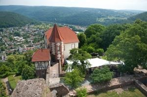 View from the castle on the Commandant's House. Photo: Kulturstiftung Rhein-Neckar-Kreis
