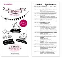 "Programmflyer 3. Forum ""Digitale Stadt"""