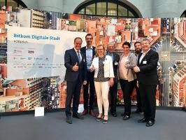 The Heidelberg delegation at the mayor's pitch on May 31, 2017 in Berlin (Photo: Bitkom)