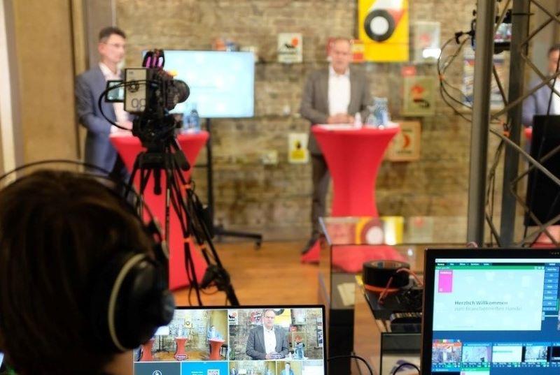 Hinter den Kulissen: Das Branchentreffen Handel fand in diesem Jahr als hybride Veranstaltung statt (Foto: Stadt Heidelberg/Onkel Lina Heidelberg)