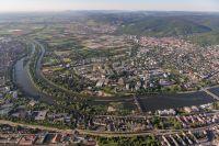 Luftbild Stadtteile Bergheim und Neuenheim in der Wissenschaftsstadt Heidelberg (Foto: Venus)