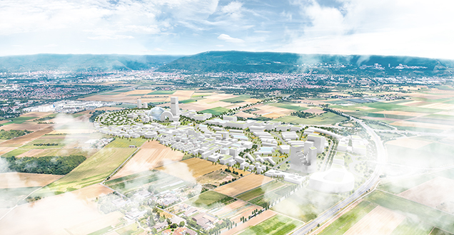 "Vision for the ""Knowledge City of Tomorrow"" (Visualization: KCAP)."